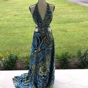 6 Jovani Beyond Prom Dress with Cutout Sides